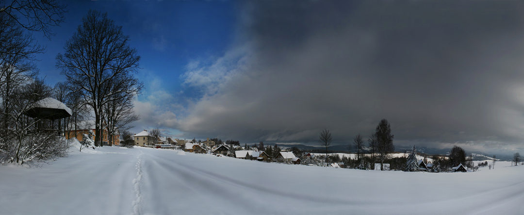 Zimní krajina, Farská louka, Vysoké nad Jizerou (foto Tomáš Klíma)